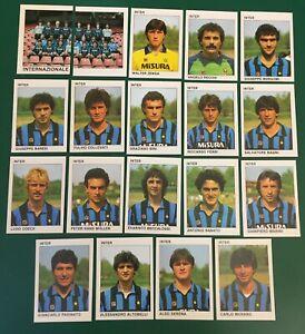 LOTTO DI 19 FIGURINE ALBUM CALCIATORI CALCIO FLASH 84 1983-84 INTER COMPLETA