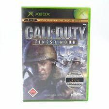 Call of Duty Finest Hour Microsoft Xbox PAL Spiel Game Stunde der Entscheidung