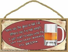 """Who's Been Drinking My Beer Man Cave Bar Pub Sign Redneck Party Plaque 5X10"""""""