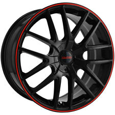 4 Touren Tr60 16x7 5x1005x45 42mm Blackred Wheels Rims 16 Inch Fits Toyota