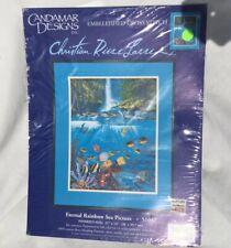 Eternal Rainbow Sea Picture CANDAMAR DESIGNS Cross Stitch Kit 51057 Opened Kit