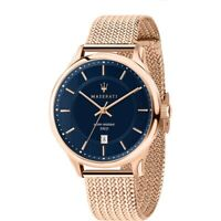Maserati Men's Watch RoseGold-Tone Steel Case/Bracelet Blue Dial R8853136003