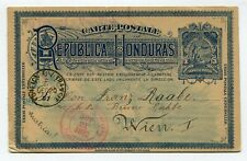 Rep. de Honduras stationery to Vienna Austria 21.11.1892