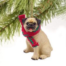 Pug Brown Fawn Dog Tiny One Miniature Christmas Holiday ORNAMENT