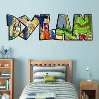 Dragon Ball Z PERSONALIZED NAME Decal Removable WALL STICKER Goku Shenron J238