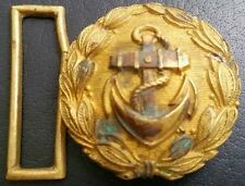 ✚6800✚ German Navy Kriegsmarine officer parade belt buckle gold WW2 Dolchkoppel