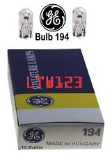 Ten(10) GE 194 Miniature Lamp Bulb 4w T3-1/4 12 volt 12v