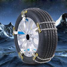 1× Car Anti-skid Steel Chains Auto Skid Belt Snow Mud Sand Tire Clip-on Chain