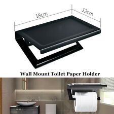 Wall Mount Toilet Tissue Holder Roll Paper Stand Storage Dispensers Bathroom Kit