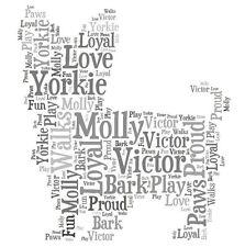 Personalised Yorkie Yorkshire Terrier Dog Lovers Word Art Print Great Gift