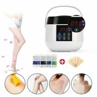 White Waxing Kit LED Heater Wax Warmer Pot Hair Removal Wax Beans Sticks Machine