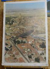 Sublime Tableau Mural Segovia,Espagne la Ville et le Romains Viaduc 64x92c ~1960