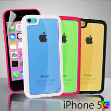 iTpu Case For iPhone 5c 5 c + Screen Guard Hard back PC & Soft gel TPU Colourful