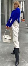 JONES NEW YORK 380$ royal blue silk cashmere crew neck sweater S loro piana