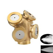 Adjustable 4Hole Brass Spray Misting Nozzle Garden Sprinklers Irrigation Fitting
