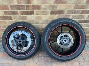 BMW S1000RR GEN2 2012 > 2014 FRONT AND BACK REAR WHEEL WITH BRAKE DISCS