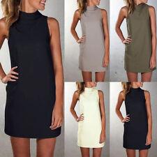 Damen Minikleid Sommer Strandkleid Langshirt Tunika Kleider Partykleid Gr.34-48