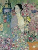 Gustav Klimt The Dancer Fine Art Print on Canvas Reproduction Home Decor Small