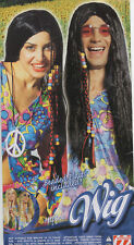 Hippie Wig Mens Ladies 60s 70s Hippy Wig with Beaded Plaits Fancy Dress