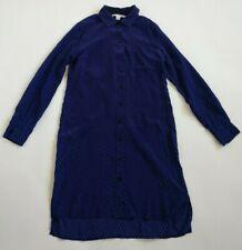DIANE VON FURSTENBERG Silk Purple/Black Prita Shirt Dress ~ Women's 6 Small