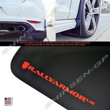 "Rally Armor UR ""Black Mud Flaps with Red Color Logo"" for 2015+ VW MKVII Golf R"