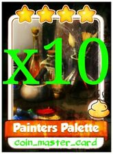 Coin Master Painters Palette x10 Rare Cards
