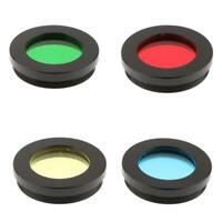 """1.25"""" Astronomy Telescope Eyepiece Color Filter Set of 4 Moon Planet Sky"""