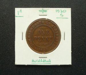 Australia Penny (1d) 1920 Double Dot Variety