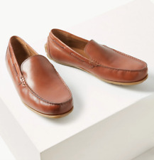 M&S COLLECTION  Leather Slip-on Drivers ~ 11.5 ~ Tan ~ £49.50