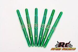 RCSS AE B6.3/B6.3D B6.2/B6.2D MAXX 3.5mm Titanium Turnbuckle kit- 6 Finishes