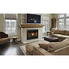 "Superior 35"" Direct vent,Top Vent Only Front View Gas Fireplace"