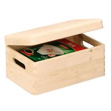 Boîte en Bois Pin Nature Caisse Toutes Utilisations Rangement Coffre Bac