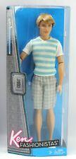 Ken Fashionistas Clutch Wave 2 Stripe Shirt Plaid Shorts Boy Barbie Doll 2011