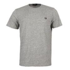 Magliette da uomo grigie Fred Perry taglia M