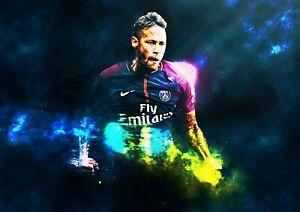 Neymar Wall Art Print Photo Print Poster Picture Football PSG