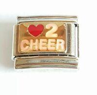Cheerleader Italian Charm Bracelet Charms Link Charm