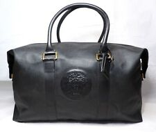 GIANNI VERSACE holdall travel Duffle black medusa hand luggage leather large 26″