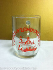 The City Of London tavern one beer drink cocktail glass glasses 1 vintage Nm6