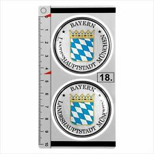 Bayern munchen set de 2 german number plate seal stadt 3D en forme de dôme autocollant badge