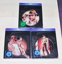INDIANA JONES 1-3 HARRISON FORD NOVOBOX / STEELBOOK EDITONEN BLU RAY NEU & OVP