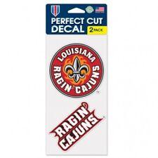 Louisiana Ragin Cajuns Set of 2 Die Cut Decal Stickers Perfect Cut Free Shipping