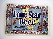 "Vintage ""Lone Star Beer"" Label - San Antonio, TX w/ Picture of TX Map *"
