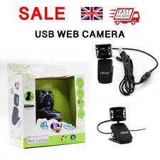 Computadora Pc Usb 2.0 50.0 M 6LED PC cámara HD Webcam Cámara Web Cam Con Micrófono