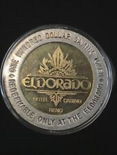 El Dorado $100 14kt Gold Center and .999 Fine Silver Gaming Token, Ultra Rarity