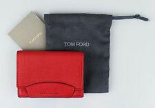NWT TOM FORD Amaranth Pink 100% Pebbled Leather Envelope Card Holder Wallet $250