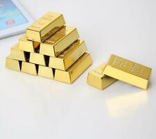6PCS Mini Gold Bullion Magnet Paper Weight Bar Fridge Pigure Decor Gift