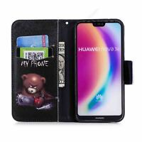 Cuero Billetera Funda carcasa Para Samsung Note 9/8 S9 iPhone HuaWei Nokia Moto