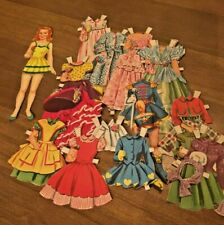 Daughter from Mommy & Me paper doll set Vintage 1954 - not a reproduction!