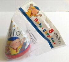 Caillou Birthday Party Hats 8 Count Cone Shaped Party Favors