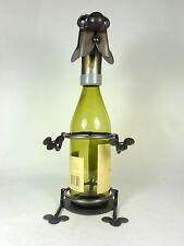 Metal Dog Wine Bottle Holder Handcrafted